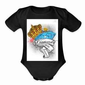 Diamonds Are Forever - Short Sleeve Baby Bodysuit