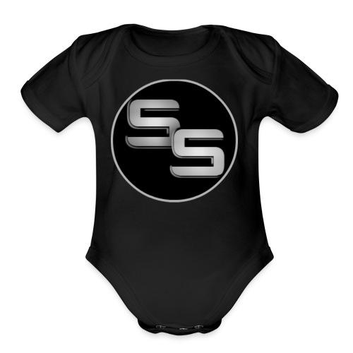 SS Logo - Organic Short Sleeve Baby Bodysuit