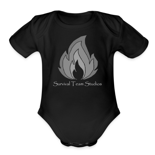 Survival Team Studios Logo_v1 - Organic Short Sleeve Baby Bodysuit