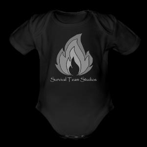 Survival Team Studios Logo_v1 - Short Sleeve Baby Bodysuit