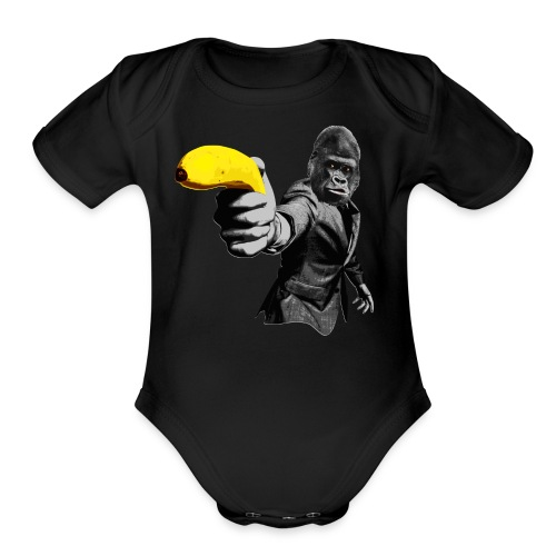 Officer Ape 001 - Organic Short Sleeve Baby Bodysuit