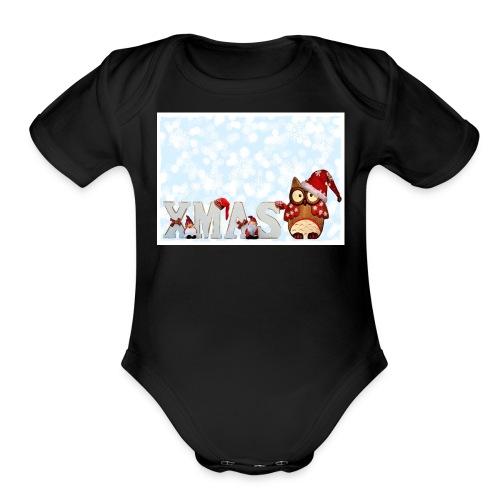 xmas - Organic Short Sleeve Baby Bodysuit