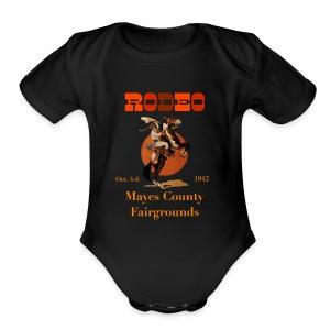 Vintage Rodeo Ad design - Short Sleeve Baby Bodysuit