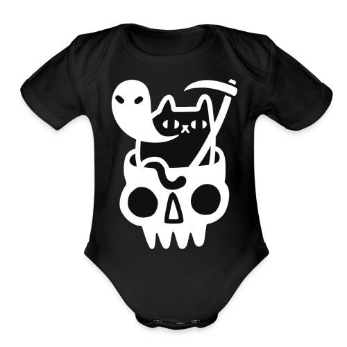 Black Doom Cat - Organic Short Sleeve Baby Bodysuit