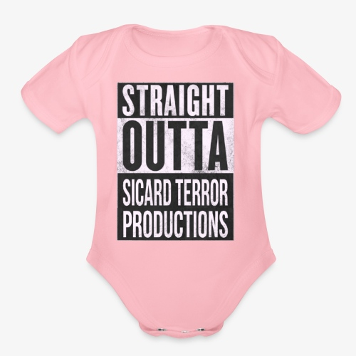 Strait Out Of Sicard Terror Productions - Organic Short Sleeve Baby Bodysuit