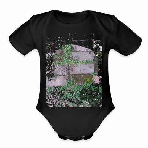 Bricks and nature - Organic Short Sleeve Baby Bodysuit
