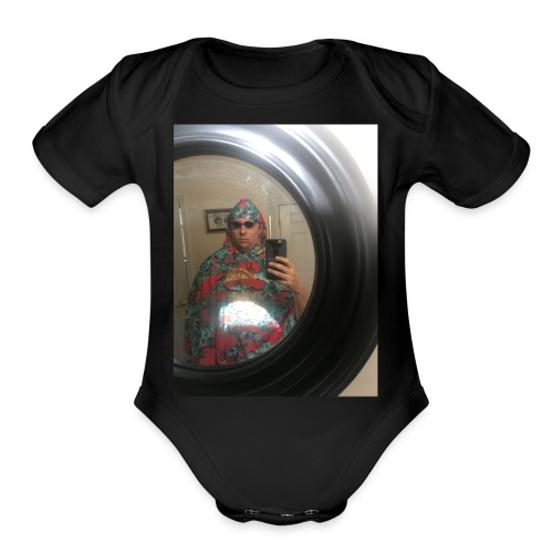 selfie - Organic Short Sleeve Baby Bodysuit