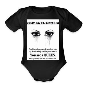 Fix your crown Queen - Short Sleeve Baby Bodysuit