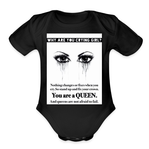 Fix your crown Queen - Organic Short Sleeve Baby Bodysuit