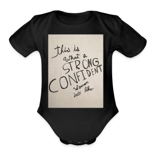 this is what a strong confident women looks like - Short Sleeve Baby Bodysuit