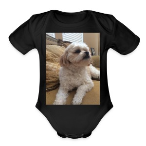 DOGGY LEO - Short Sleeve Baby Bodysuit