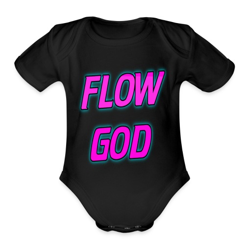 Flow God - Organic Short Sleeve Baby Bodysuit