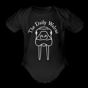 Walrus logo white - Short Sleeve Baby Bodysuit