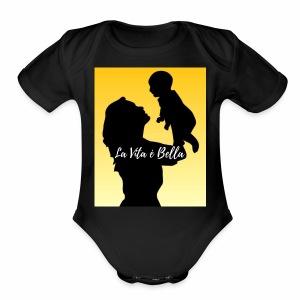 Life is Beautiful - Short Sleeve Baby Bodysuit
