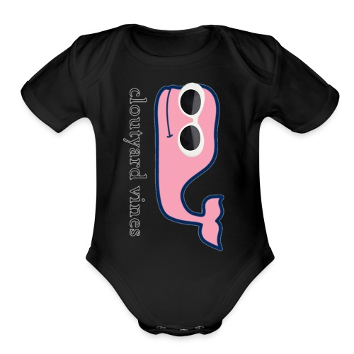cloutyard vines - Organic Short Sleeve Baby Bodysuit