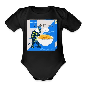 CockFlakes! Ya know for kids! - Short Sleeve Baby Bodysuit