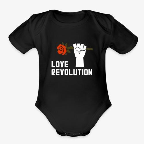 Love Revolution - Organic Short Sleeve Baby Bodysuit