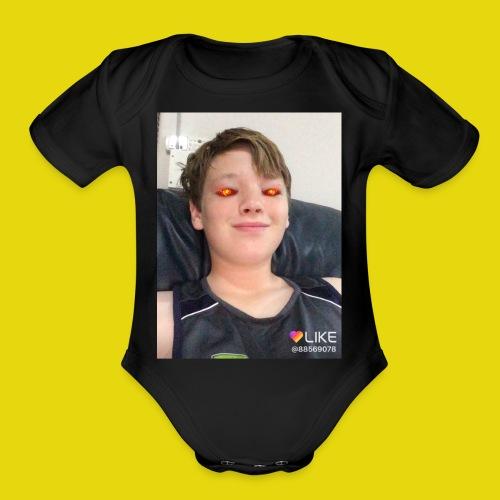 Evil - Organic Short Sleeve Baby Bodysuit