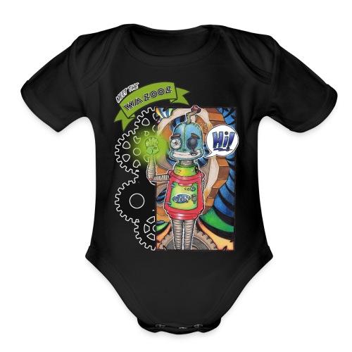 Meet Sam - Wazooz Style - Organic Short Sleeve Baby Bodysuit