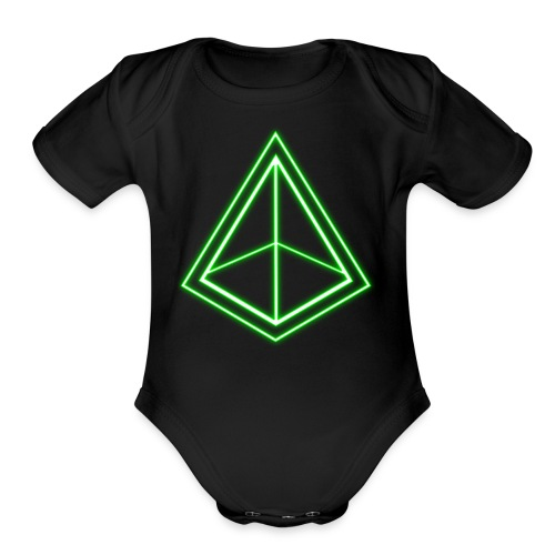 Green Pyramid - Organic Short Sleeve Baby Bodysuit