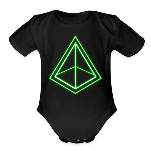 Green Pyramid - Organic Short Sleeve Baby Bodysuit