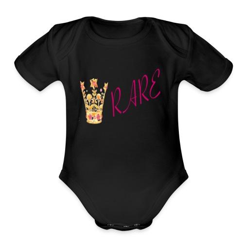 Rare - Organic Short Sleeve Baby Bodysuit