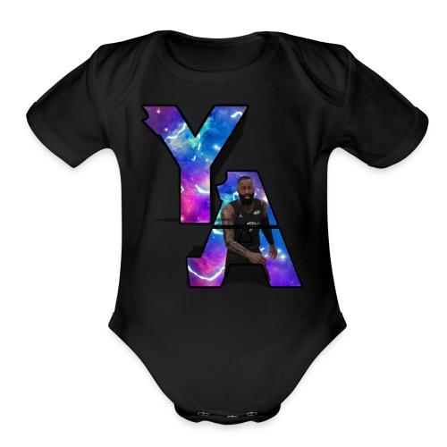 The Y/A Logo - Organic Short Sleeve Baby Bodysuit
