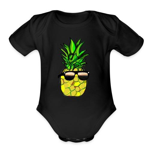 pineapple shirt - Organic Short Sleeve Baby Bodysuit