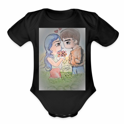 love outdoors - Organic Short Sleeve Baby Bodysuit