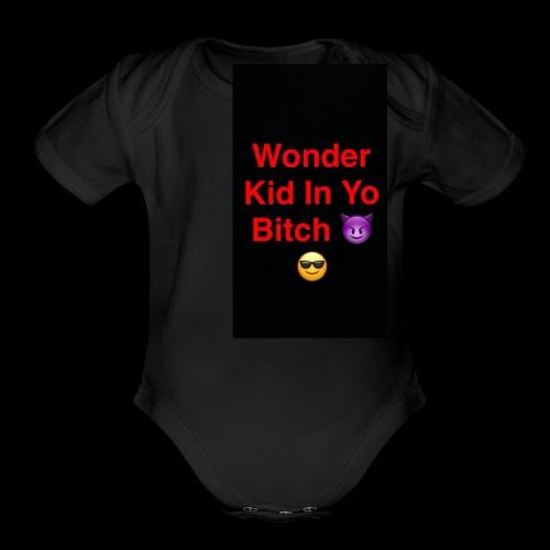 snapchat logo 6 - Organic Short Sleeve Baby Bodysuit