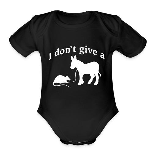 rats-ass-2 - Organic Short Sleeve Baby Bodysuit
