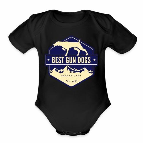 logo color - Organic Short Sleeve Baby Bodysuit