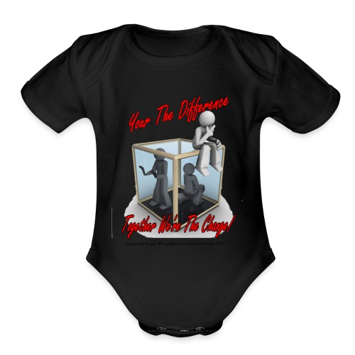 Your The Difference - Organic Short Sleeve Baby Bodysuit