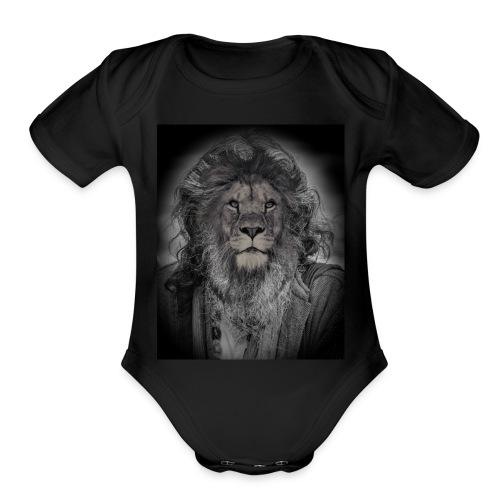 lion man - Organic Short Sleeve Baby Bodysuit
