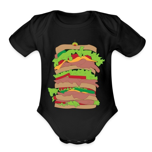The Dagwood - Organic Short Sleeve Baby Bodysuit