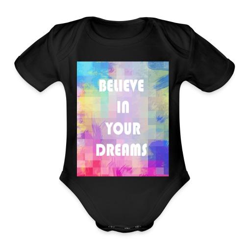 DREAMS - Organic Short Sleeve Baby Bodysuit