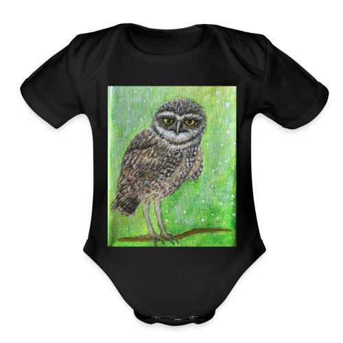 IMG 8818 Wise Owl - Organic Short Sleeve Baby Bodysuit