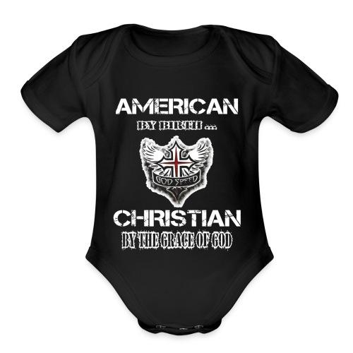 American Christian - Organic Short Sleeve Baby Bodysuit