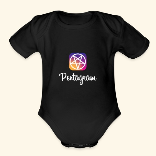 PENTAGRAM / Instagram - Organic Short Sleeve Baby Bodysuit