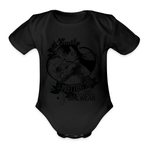 A SMILE is the prettiest thing-Ran Mori - Short Sleeve Baby Bodysuit