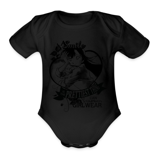 A SMILE is the prettiest thing-Ran Mori - Organic Short Sleeve Baby Bodysuit