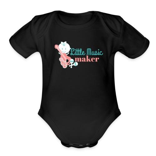 Music Maker (Girl) - Organic Short Sleeve Baby Bodysuit