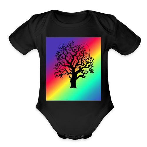Tree of love - Organic Short Sleeve Baby Bodysuit