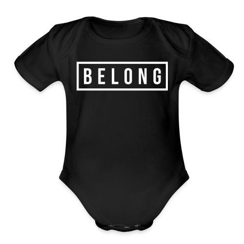 Belong White - Organic Short Sleeve Baby Bodysuit