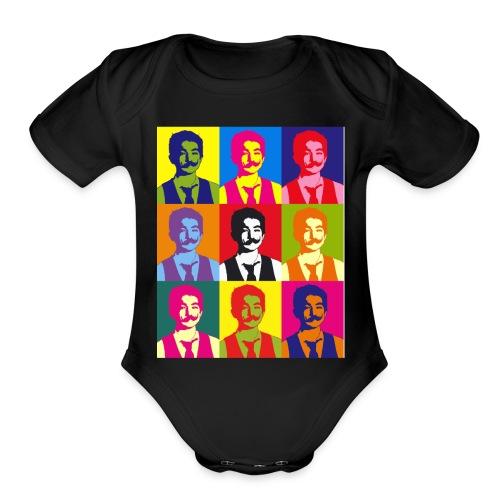 Warhol shirt - Organic Short Sleeve Baby Bodysuit