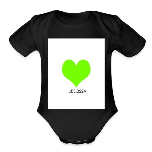 UndeadBarbieStarQueen224 2 - Organic Short Sleeve Baby Bodysuit