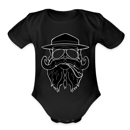 OldSchoolBiker - Organic Short Sleeve Baby Bodysuit