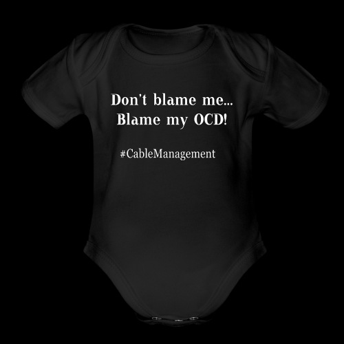 OCD Cable Management - Organic Short Sleeve Baby Bodysuit