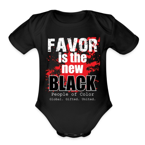 FavorMenBetterFontHIGHRES - Organic Short Sleeve Baby Bodysuit