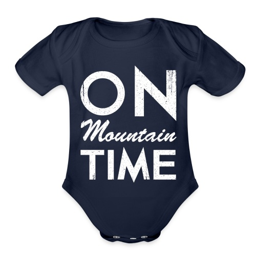 On Mountain Time - Organic Short Sleeve Baby Bodysuit